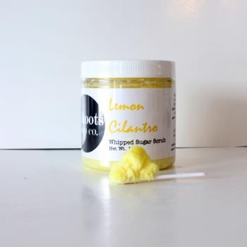 Lemon Cilantro Whipped Sugar Scrub